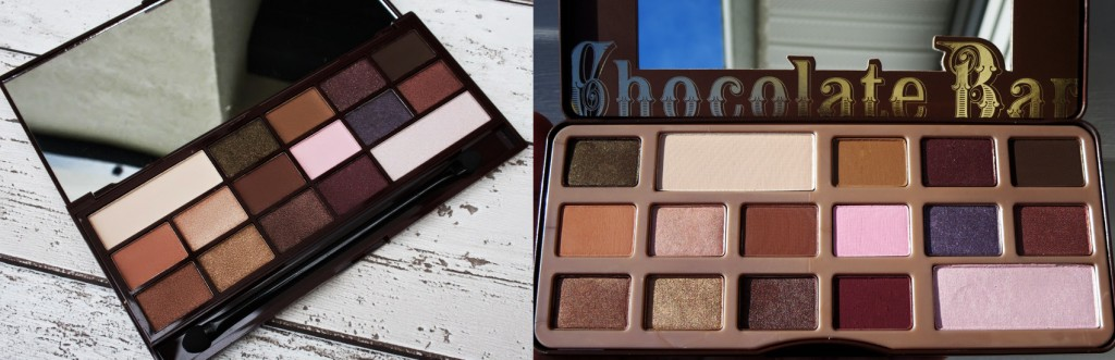 Primarjava paletk I ♡ Makeup I Heart Chocolate & Too Faced Chocolate Bar